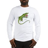 Green Anole Lizard (Front) Long Sleeve T-Shirt