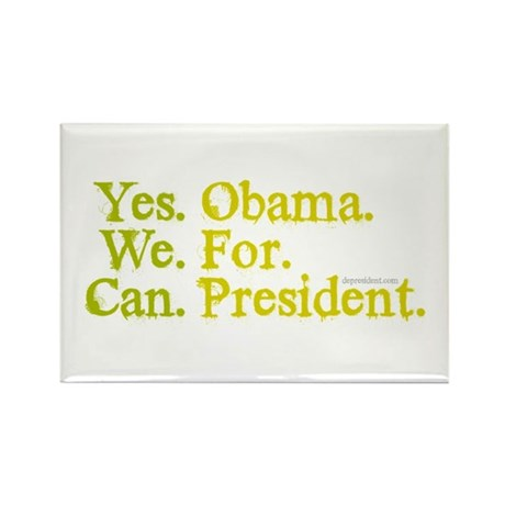 Yes We Can Rectangle Magnet (10 pack)