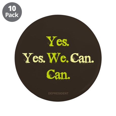 "Yes We Can 3.5"" Button (10 pack)"