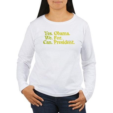 Yes We Can Womens Long Sleeve T-Shirt