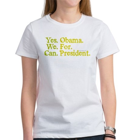 Yes We Can Womens T-Shirt