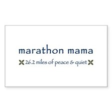 Marathon Mama Rectangle Decal