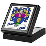 Carl Family Crest Keepsake Box