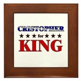 CRISTOPHER for king Framed Tile