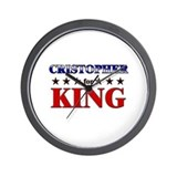 CRISTOPHER for king Wall Clock