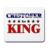 CRISTOFER for king Mousepad