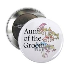 "Fireworks Aunt of the Groom 2.25"" Button (10 pack)"