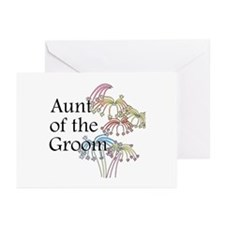 Fireworks Aunt of the Groom Greeting Cards (Pk of