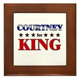 COURTNEY for king Framed Tile