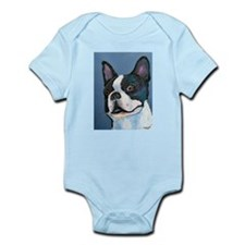 A Boston Terrier Infant Creeper