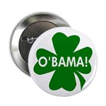 O'Bama! Green Shamrock Button