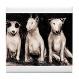 3 Bull Terriers Tile Coaster