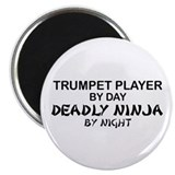 Trumpet Player Deadly Ninja Magnet