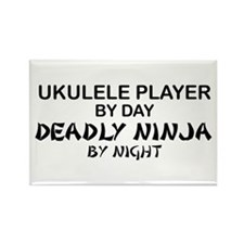 Ukulele Player Deadly Ninja Rectangle Magnet