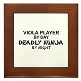 Viola Deadly Ninja by Night Framed Tile