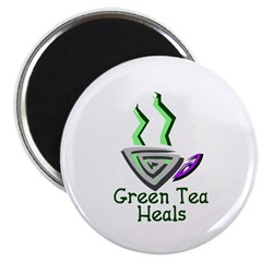 """Green Tea Heals 2.25"""" Magnet (10 pack)"""