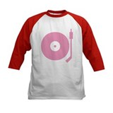 Old school record player pink Tee