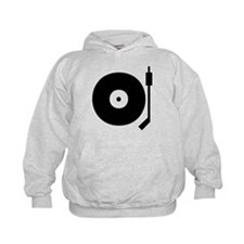 Old school record player blac Hoodie