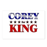 COREY for king Postcards (Package of 8)