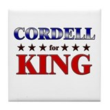 CORDELL for king Tile Coaster