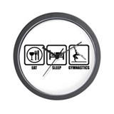 Eat, Sleep, Gymnastics Wall Clock