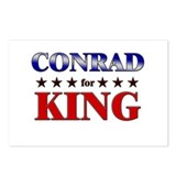CONRAD for king Postcards (Package of 8)
