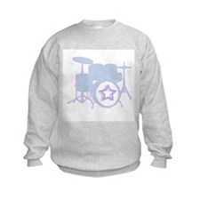 3-D drum set blue Sweatshirt