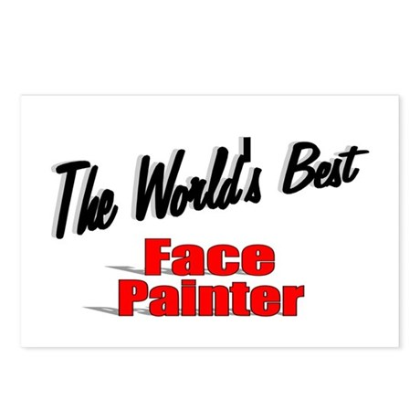 &quot;The World's Best Face Painter&quot; Postcards (Package