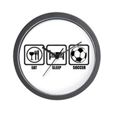 Eat, Sleep, Soccer Wall Clock