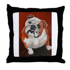 Bertha a Bulldog Throw Pillow