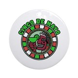 Cinco de Mayo Emblem Ornament (Round)