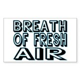 Fresh Air Rectangle Decal