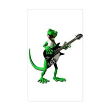 Electric Guitar Gecko Decal