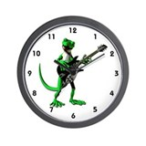 Electric Guitar Gecko Wall Clock