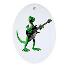 Electric Guitar Gecko Ornament (Oval)
