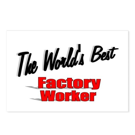 """The World's Best Factory Worker"" Postcards (Packa"