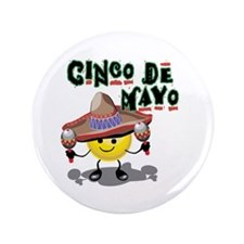"Cinco de Mayo Smiley 3.5"" Button (100 pack)"