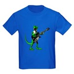 Electric Guitar Gecko Kids Dark T-Shirt