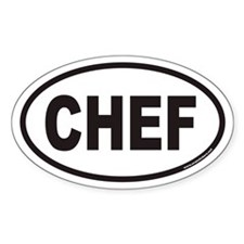 CHEF Euro Oval Stickers