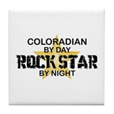 Coloradian Rock Star Tile Coaster