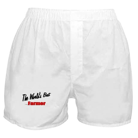 """The World's Best Farmer"" Boxer Shorts"