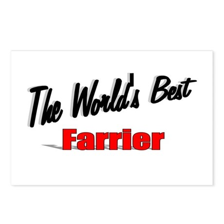 """The World's Best Farrier"" Postcards (Package of 8"
