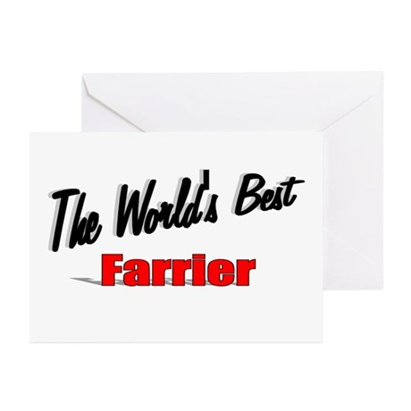 """The World's Best Farrier"" Greeting Cards (Pk of 2"