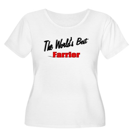 """The World's Best Farrier"" Women's Plus Size Scoop"