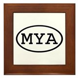 MYA Oval Framed Tile