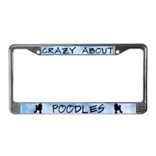 Crazy About Poodles License Plate Frame