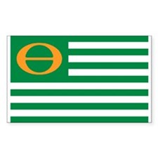 ECO FLAG... Sticker (Rectangular)