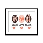 Peace Love Ballet Ballerina Framed Panel Print
