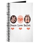 Peace Love Ballet Ballerina Journal