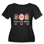 Peace Love Ballet Ballerina Plus Size Scoop Tee